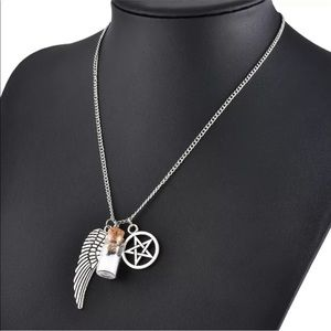 Jewelry - Wiccan Silver Necklace With Charms